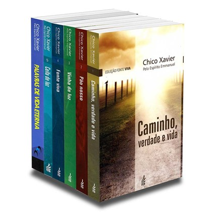 Coleção Fonte Viva - Chico Xavier e Emanuel - 6 livros