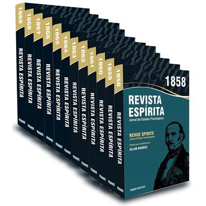 Coleção Revista Espírita - 1858 a 1869 - 12 Volumes