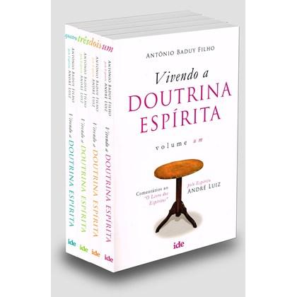 Coleção Vivendo A Doutrina Espírita - 4 Livros