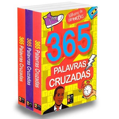 Kit 365 Palavras Cruzadas - 3 Livros Novos