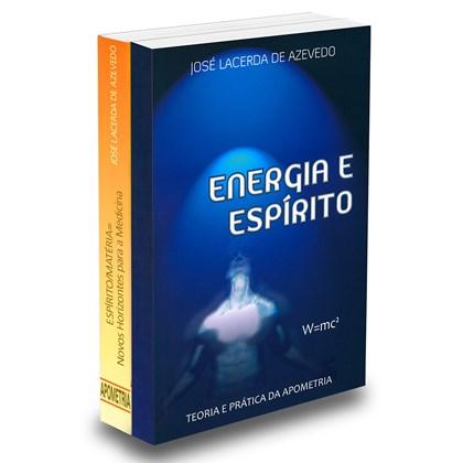 Kit Dr José Lacerda Energia e Espírito & Espírito Matéria Novos Horizontes Para a Medicina