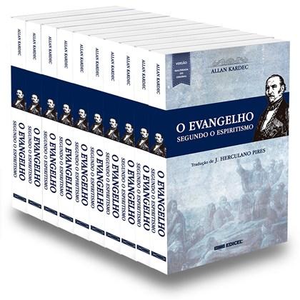 Kit Evangelho Segundo o Espiritismo (O) Normal - 10 Livros Novos