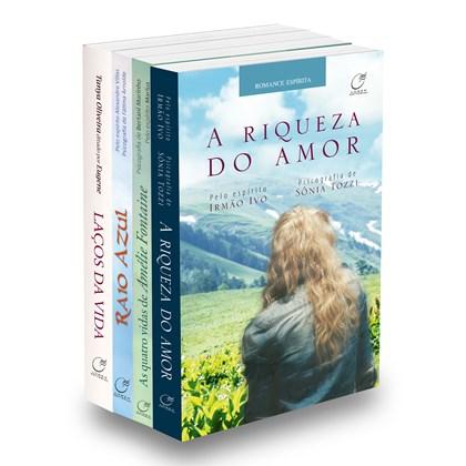 Kit Romances Espíritas - Namorados para sempre - 4 LIVROS